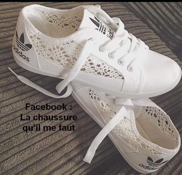 750c6a4d4435f0 Acheter adidas femme dentelle blanche pas cher