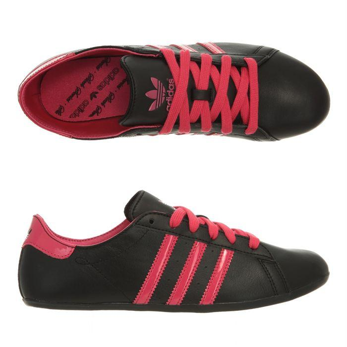 chaussure adidas femme noir et rose