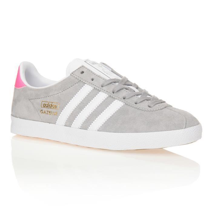 Pas Cher Acheter Chaussures Gazelle Adidas Blanc Gris Og Aq48qxv