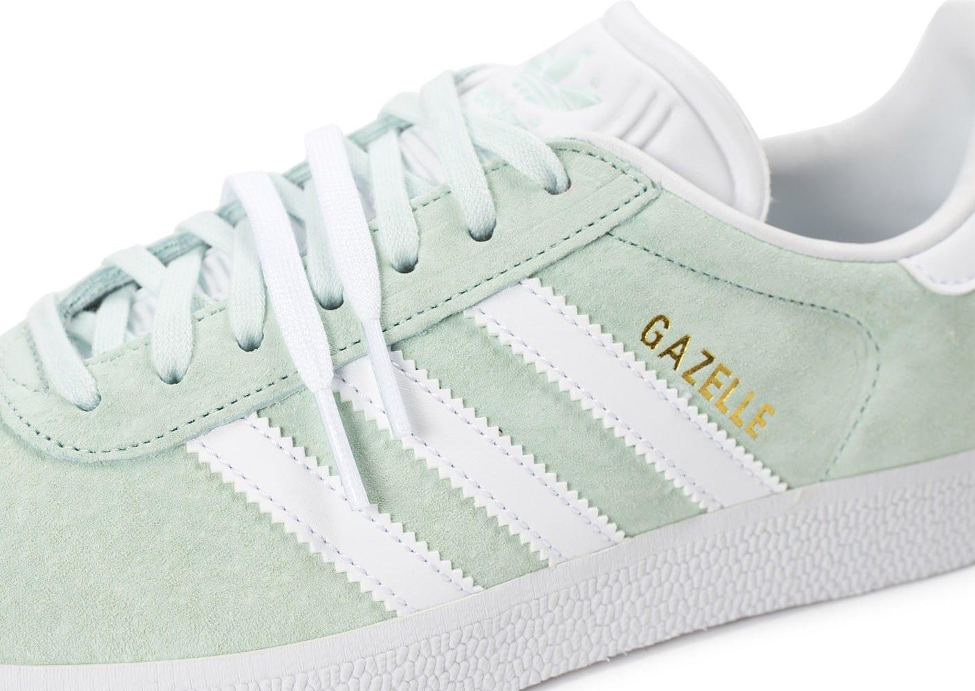 Acheter adidas gazelle vert pale pas cher