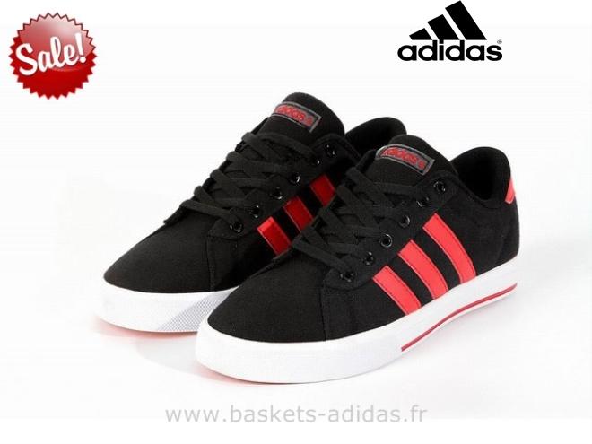 adidas neo rouge et noir