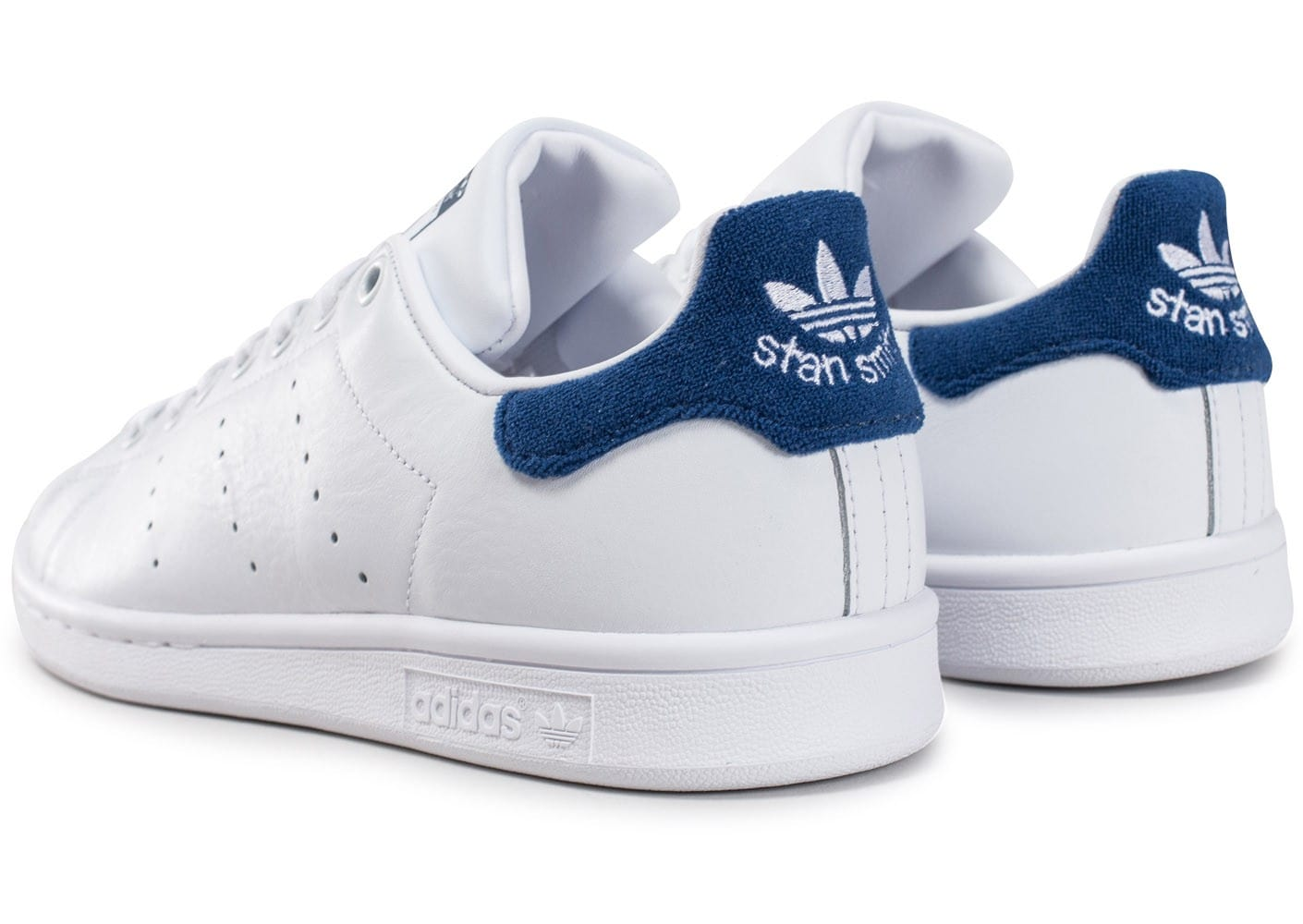 quality design 0ef5a dee06 ... czech à la mode adidas stan smith m20325 blanc bleu marine basket adidas  originals basket mixte