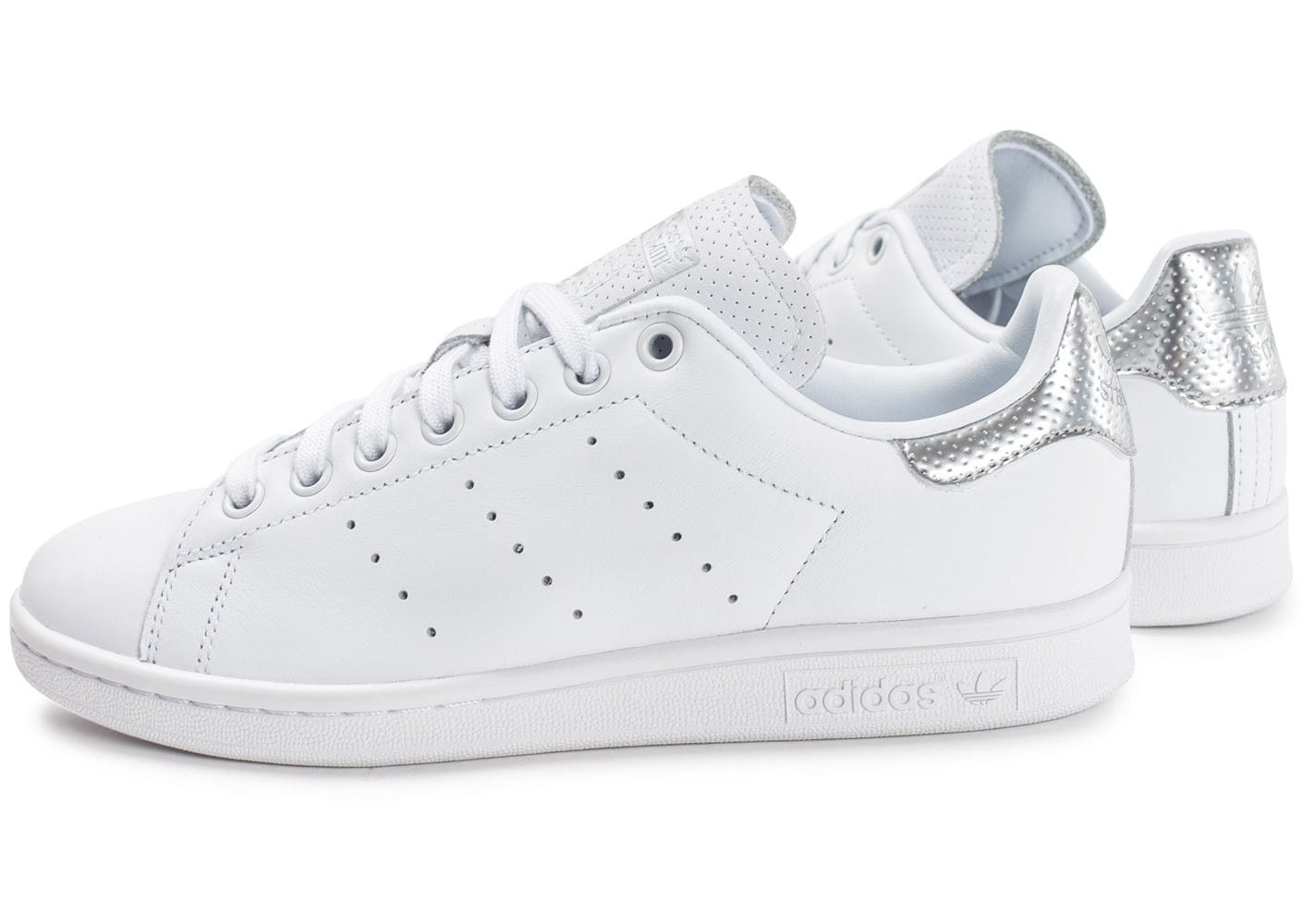 adidas stan smith femme blanche et or