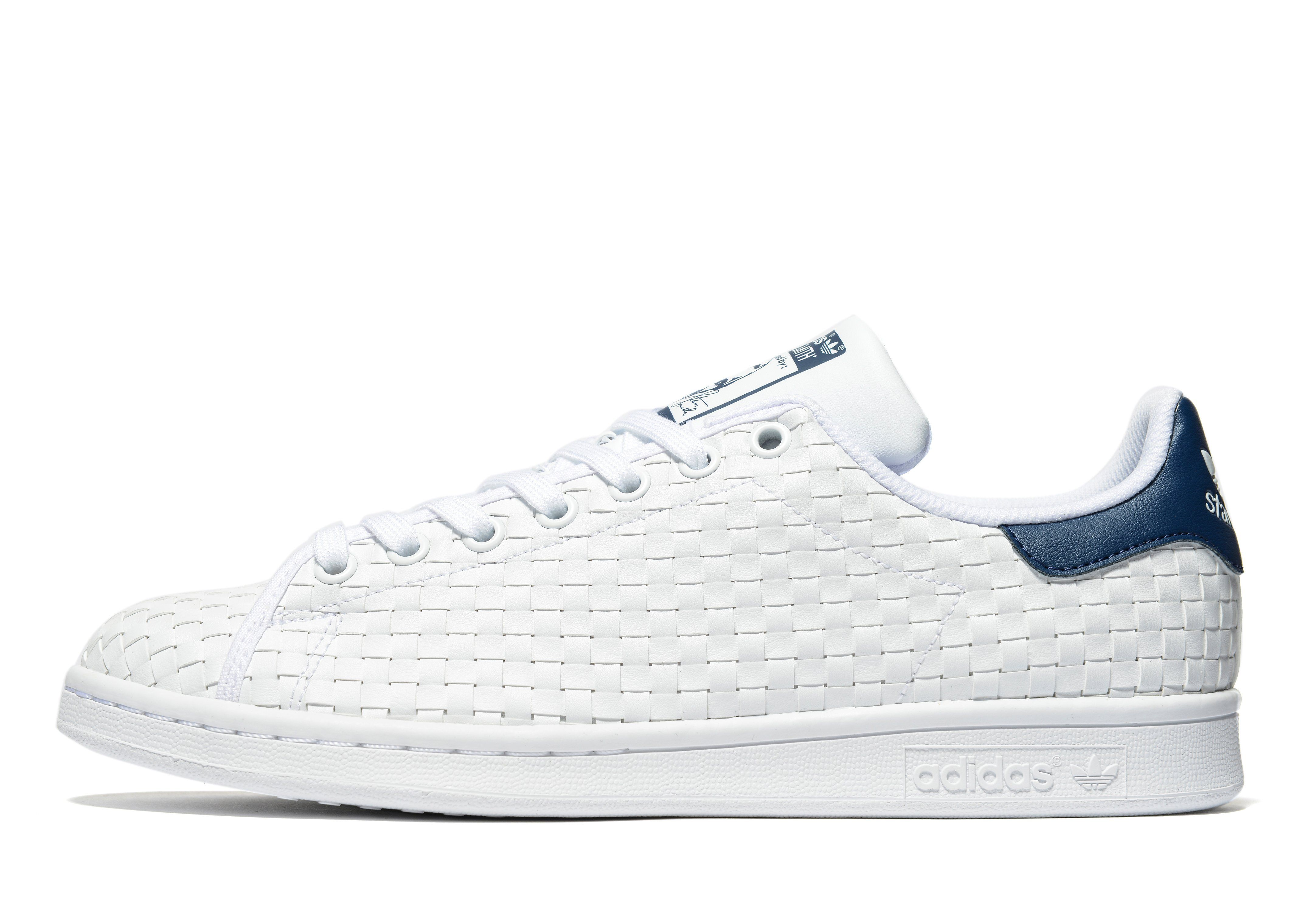 adidas stan smith weave blanche