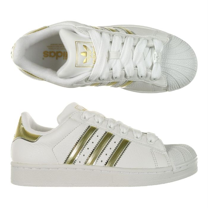 adidas superstar blanc et or
