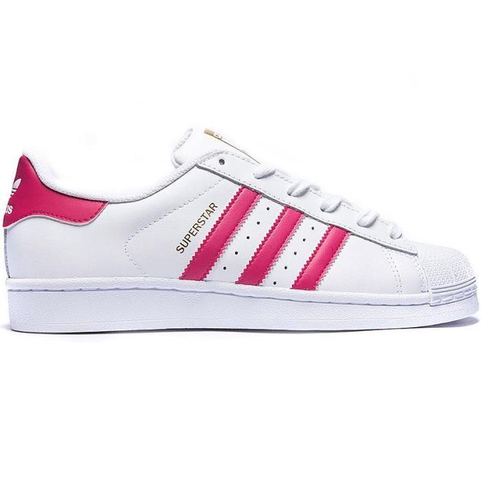 Acheter adidas superstar bande rose pas cher