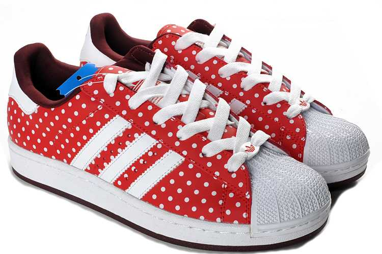 65447677960 Adidas originals - Superstar Cuir Rouge Et Blanche ... Adidas Originals  Superstar - Chaussure Baskets Homme Femme Couleur laser blanc   rouge  AQ2870 .