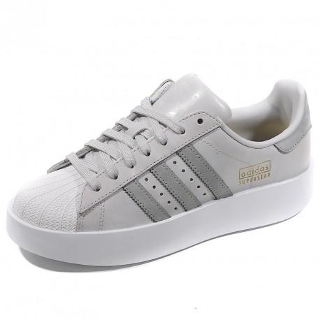 adidas superstar femme blanc gris