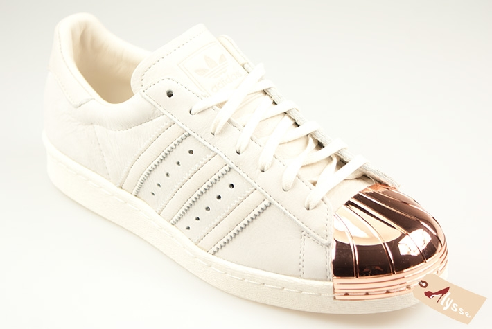 Adidas Superstar 80s W Metal Toe TF Basket Mode Femme Blanc, 40 2 3   Amazon.fr  Chaussures et Sacs efa2eaaecdf7