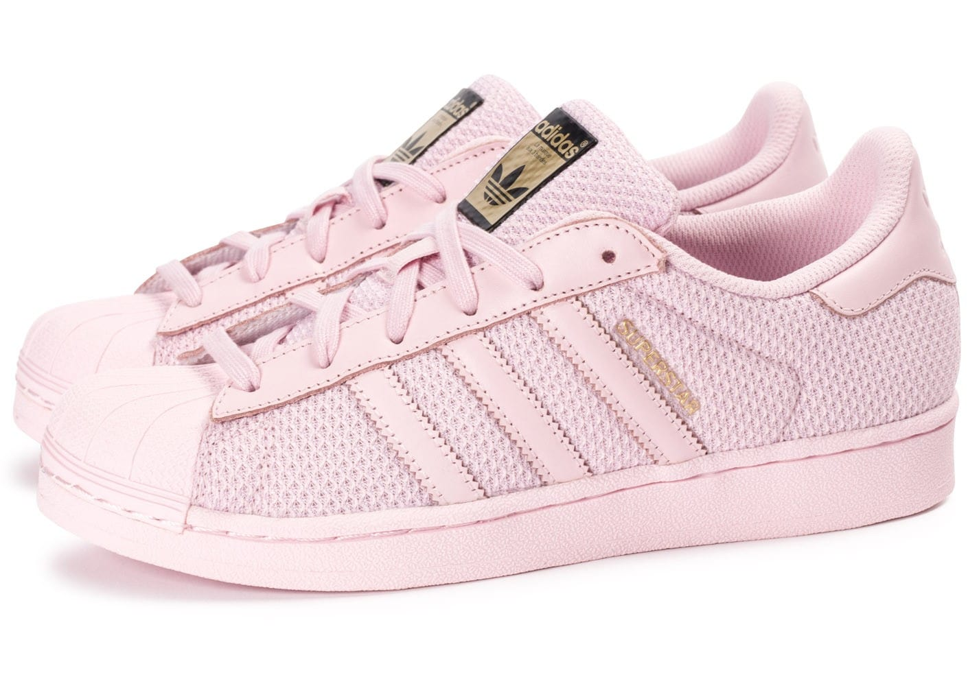basket adidas super star rose