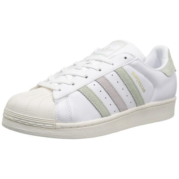 ea4d71bcadf87 2018 19 Adidas - Superstar 80 u0027s en cuir Femme Ftwbla Ftwbla Noiess -  Taille EU 36,37,38,39,40 ... France - Adidas Superstar in Rose Or ...