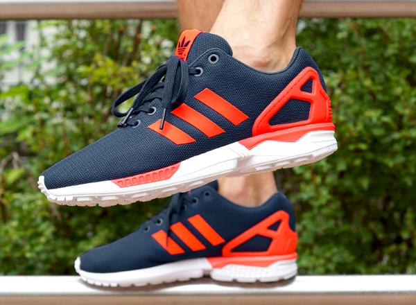 adidas zx flux gris rouge