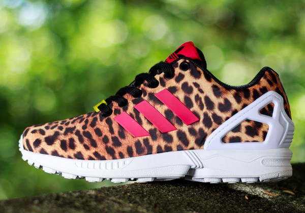 half price order differently reduced adidas zx flux leopard blanc 90b10 1d710