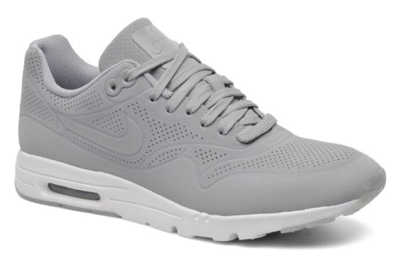brand new 8d44f 98d9d 705297-006 Nike Air Max 1 Ultra Moire Metallic Cool Gris Gym Rouge - Hommes