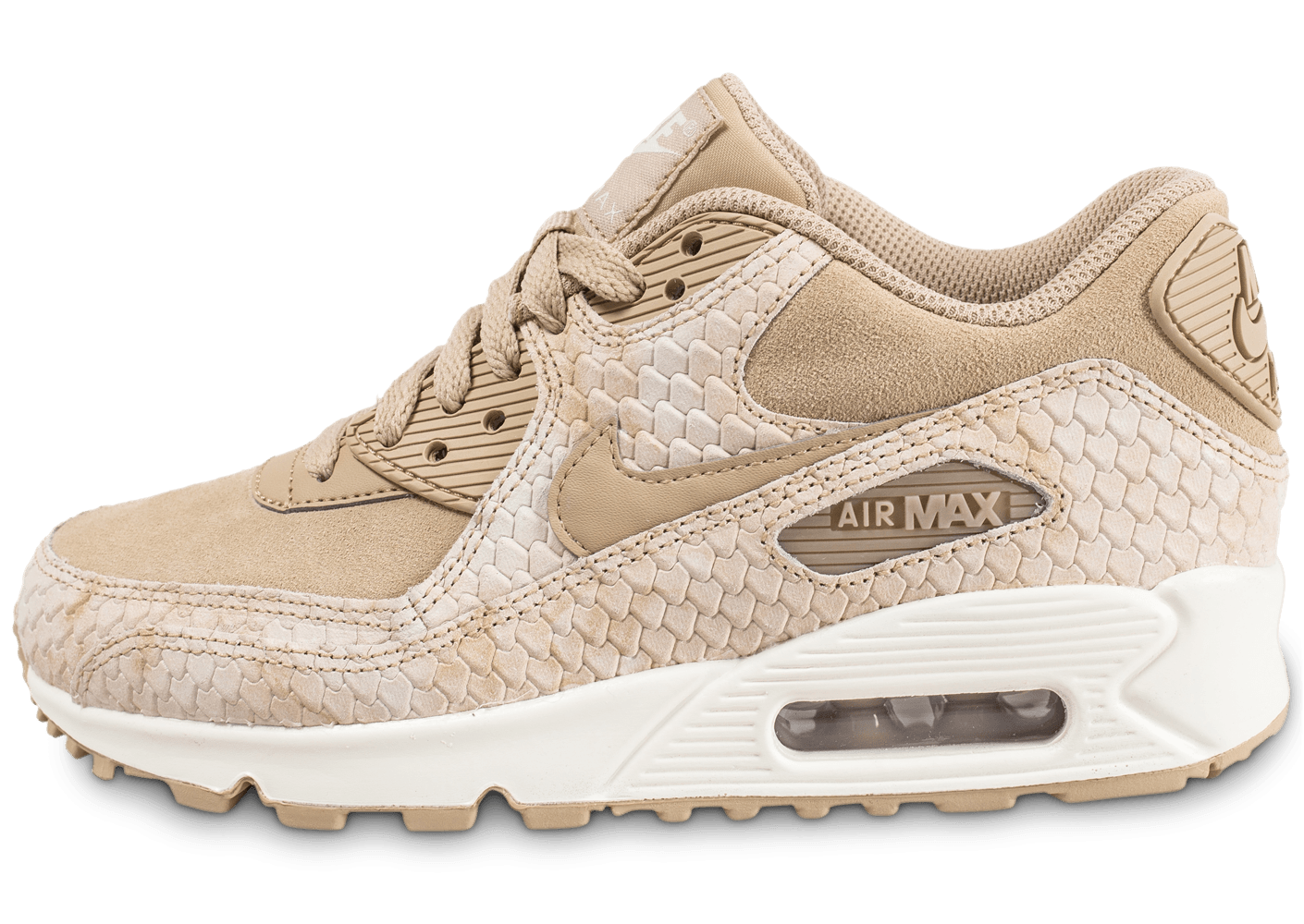 4cec51ee9a0 Baskets Pour Femme Nike Air Max 90 Ultra 2.0 W chaussures beige rose Code  article  SO55457101 Nike Air Max 90 beige clair et jaune gomme et blanche  femme ...