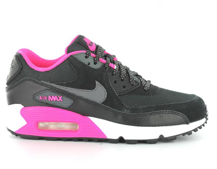 half off 960ca 2294a New  Nike  Air Max 90 Chaussures de course For Couples Gris Blanc Rose Noir  charme D285000002593 Chaussures Nike Air Max 90 Rose Noir Blanc Femme j (Op  Plus ...