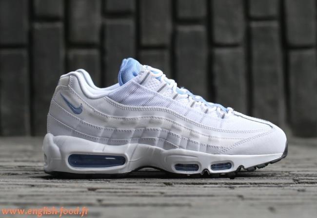 best loved 6ef54 3e992 Cliquez pour zoomer Chaussures Nike Air Max 95 enfant blanche et bleu vue  extérieure ... Homme Nike Air Max 95 iD basket de course bleu ciel et bleu  glacier ...