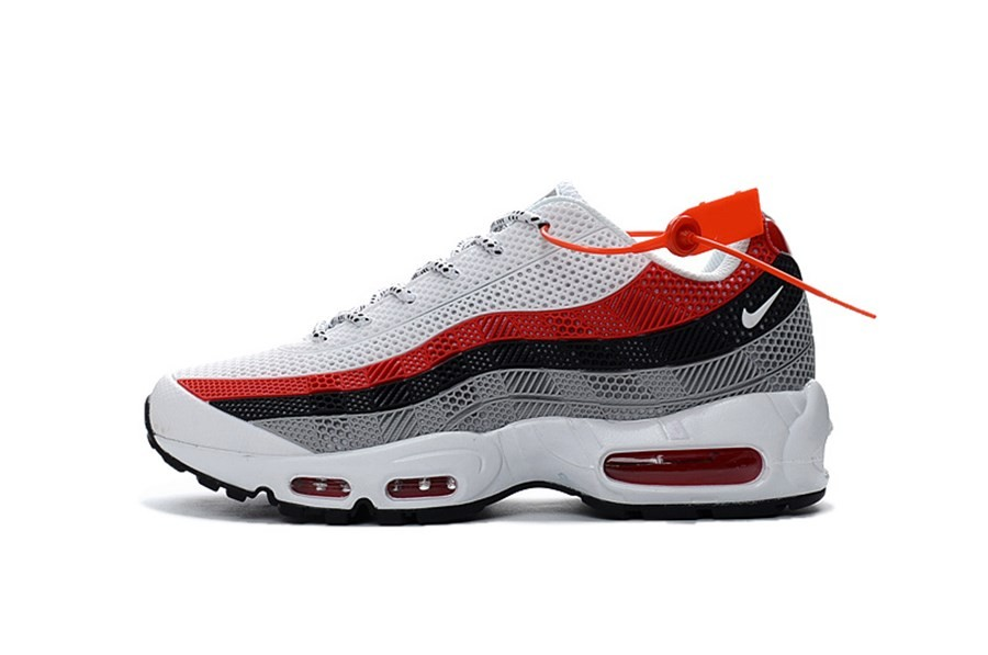 nike air max 95 rouge roup gris