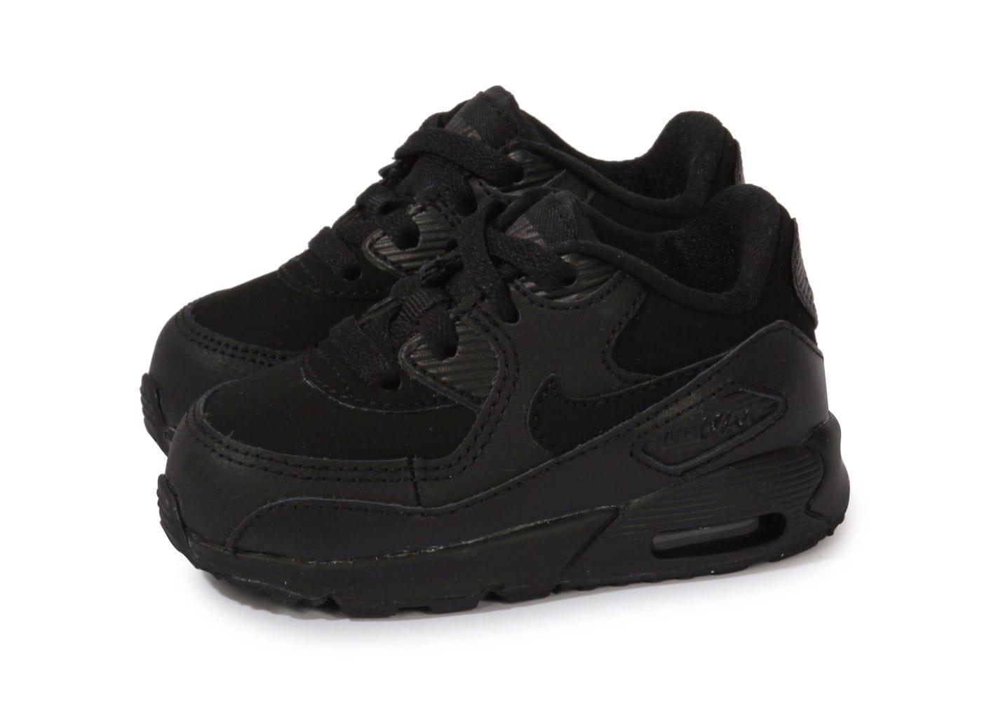 online retailer e438d 63202 Cliquez pour zoomer Chaussures Nike Air Max Thea Bébé noire et rose vue  extérieure ... Chaussure bébé fille Nike Air Max Command Flex Nike Air Max  90 Ltr ...