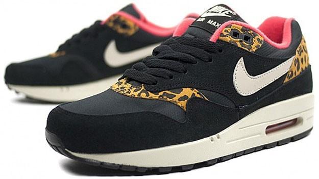 buy online ee5ec 62e40 Pas Cher Nike Air Max 1 Homme Chaussures France - Grise Noir Leopard ...  Nike Wmns Air Max 1/87 \ Achat / Vente produits Nike Air Max 90 Femme  Leopard,Nike ...