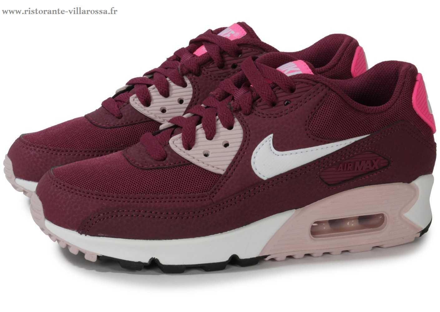 best website c3a72 84f0c Femme Nike Air Max 95 Essential Chaussures Wine Rouge Bordeaux Blanche Pas  Cher. Double-cliquez sur l u0027image ...