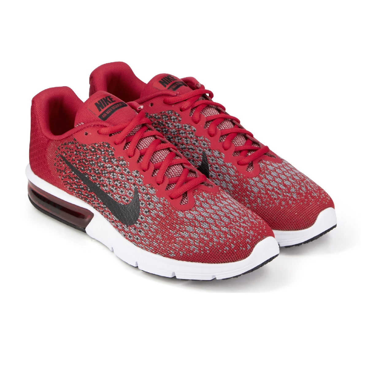 wholesale dealer e14f4 67cd2 Nike Performance AIR MAX SEQUENT 2 Homme Rouge Homme Chaussures - Baskets - Nike  Air Max Sequent 2 Rouge KJGDNIC