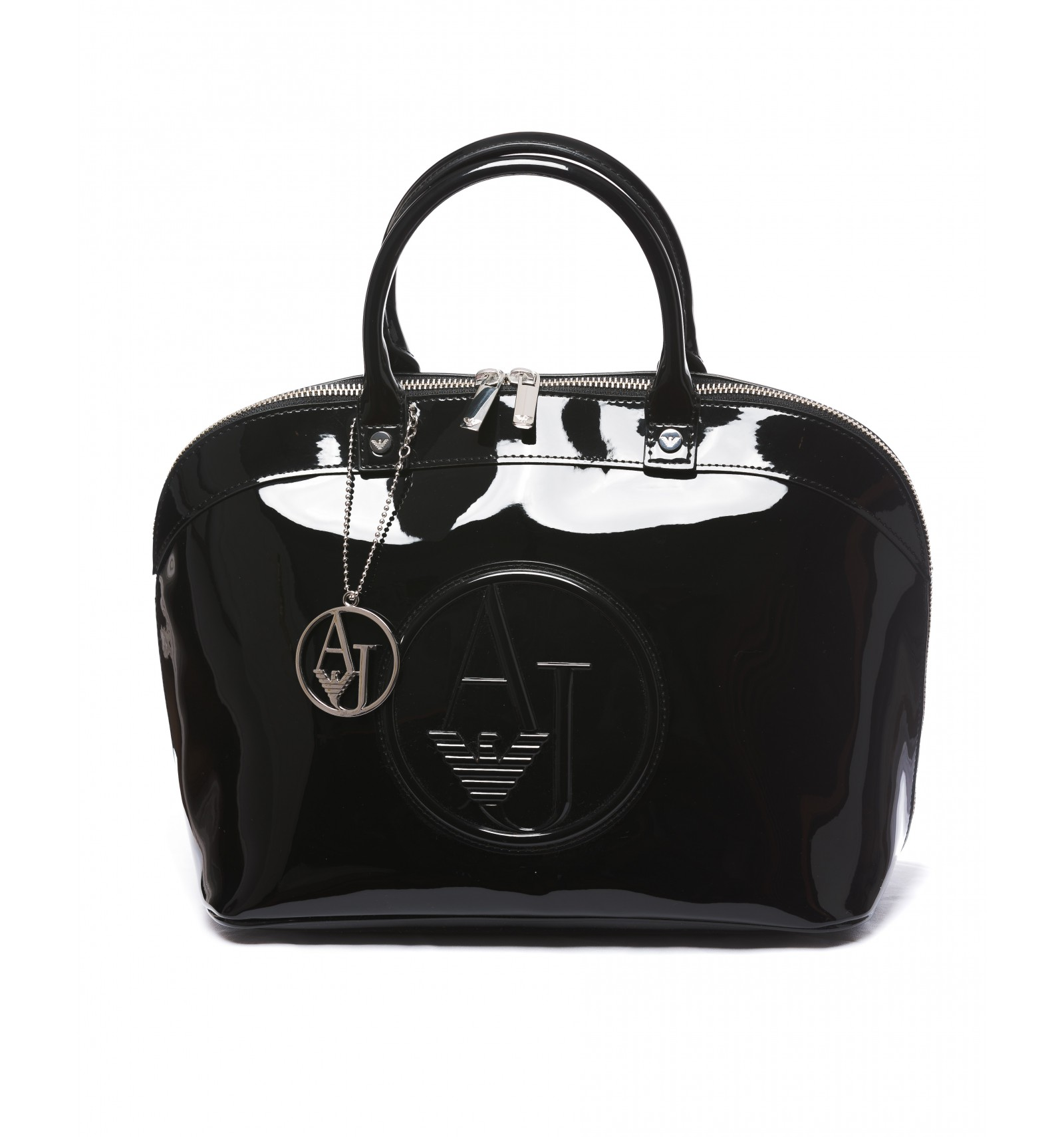 Sac femme noir brillant. SAC A MAIN ARMANI JEANS FEMME verni BAG taschen RN  103723 ITALY EMPORIO ARMANI Armani jeans Gamoura blanc sacs cabas shopping  ... f3b660cb625d
