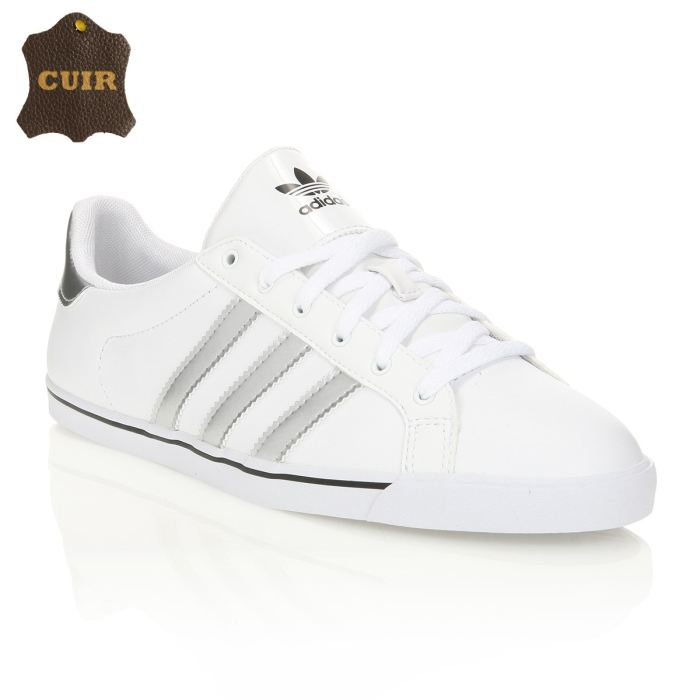 chaussure femme adidas noir et blanc