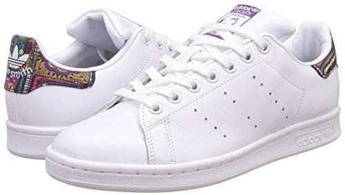 Adidas originals - Stan Smith Triangle Trace Blanche Et Verte 40 - pas cher Achat / Vente Baskets femme - RueDuCommerce
