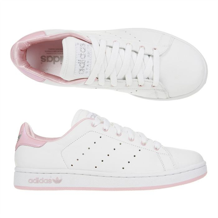 info for 54080 2d914 Adidas originals - Stan Smith classic B32703 Blanc   Rose basket stan smith  rose femme. Baskets Compensees Adidas Stan Smith Bold Rose Femme ...