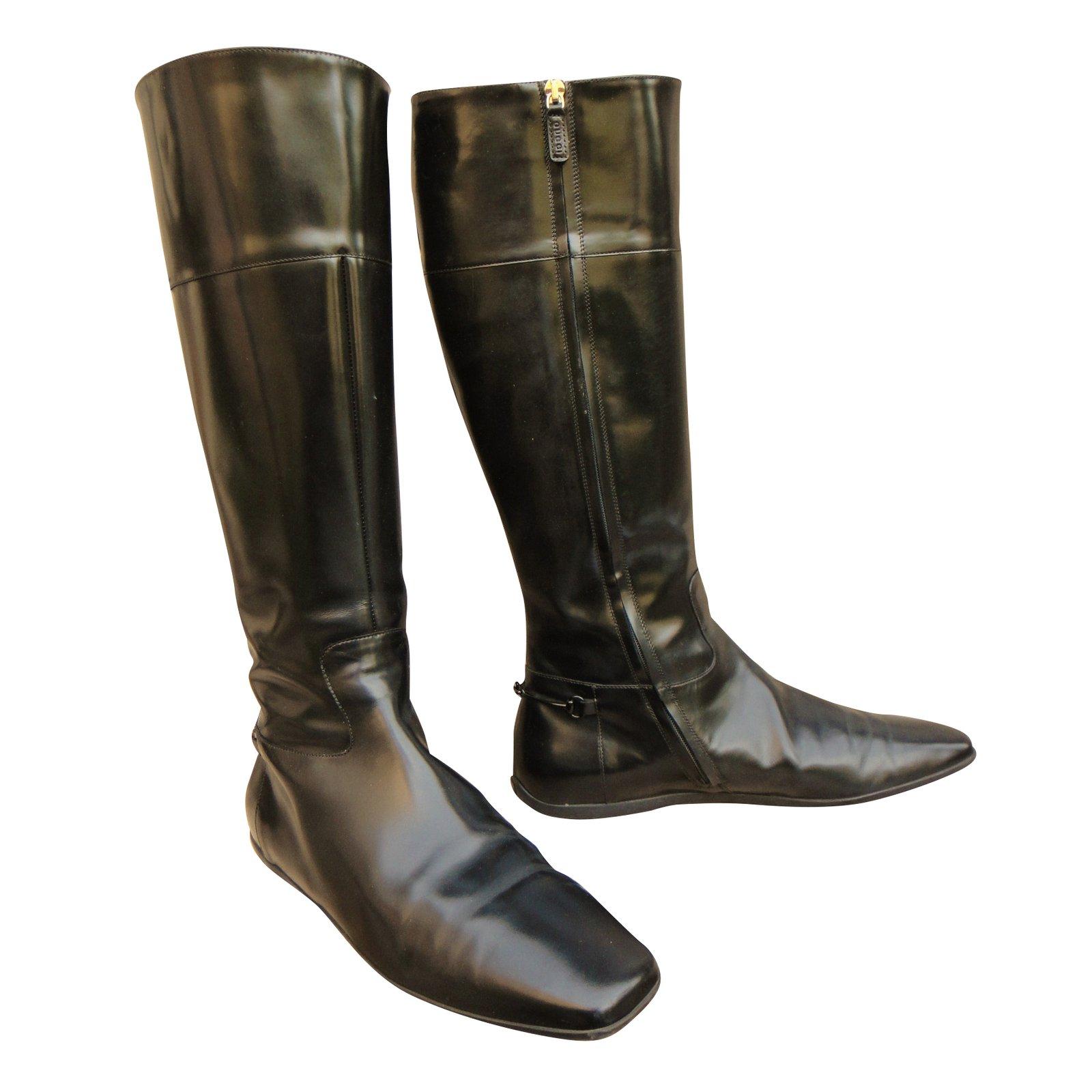 Bottes Gucci Bottes Cuir Noir ref.9684 43.90EUR, GUCCI chaussures  hommes,2018T gucci hommes chaussures anglais exquis marque pas cher wsed f6d9ce2696d
