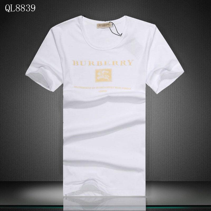2018 Chaude T Shirt Burberry Homme pas cher Col rond de coton Modes 502 Burberry  T-shirt manches longues col polo homme Blu Paris rikk602d1kv6 27b57c81739
