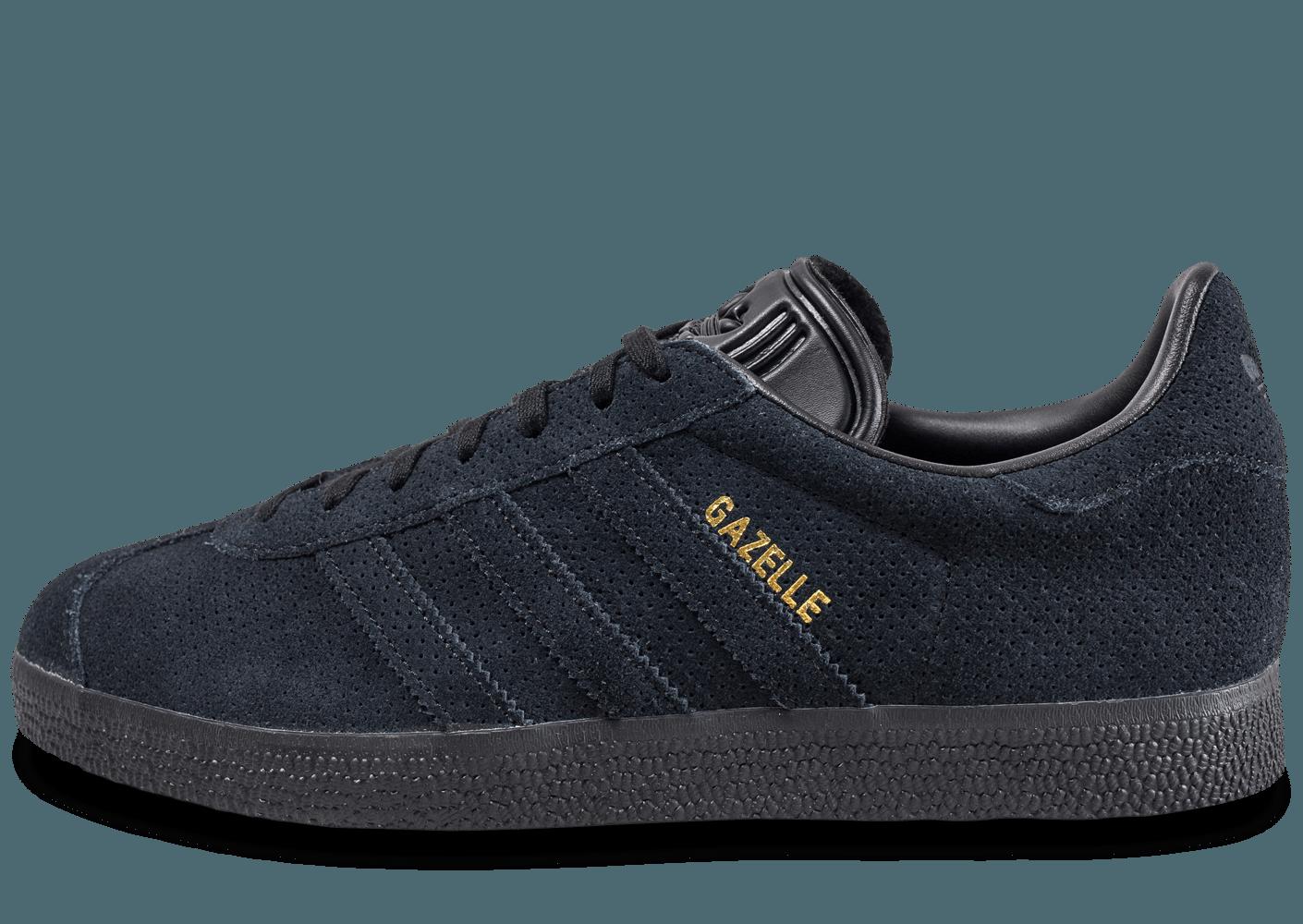 chaussure adidas noir et or