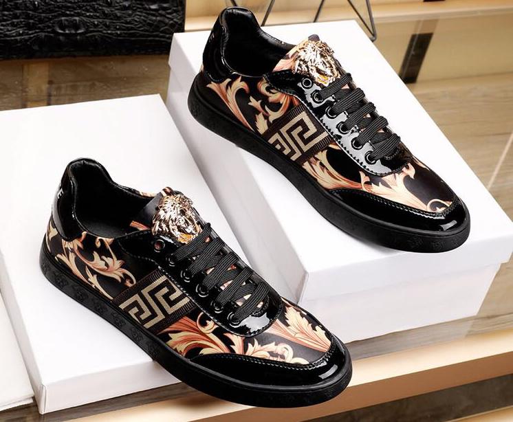 60378d4a6e11 Versace baskets montantes   2017 Populaire Casual Chaussures Versace Homme  Pas Cher CVE-329 Boutique En Ligne Homme Vente Pas Cher Bleu VERSACE  CHAUSSURES - ...