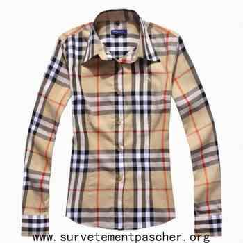 Acheter chemise burberry femme pas cher eab80330de1