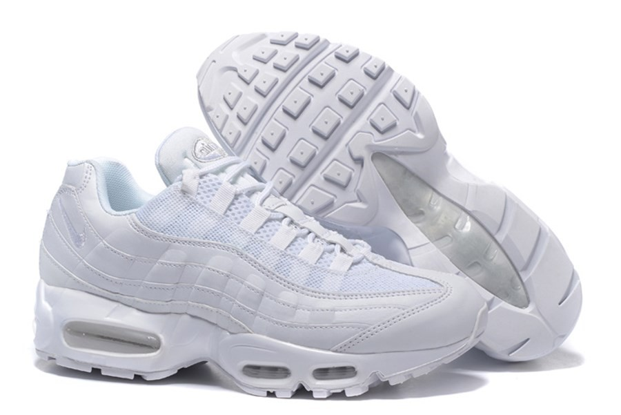 new product f8db9 e8829 Officiel Homme Nike Air Max 95 Blanches Noires 609048 109 NIke Pas cher ... Nike  Air Max 87 Pas Cher air Max 2017 Classic Blanche Et Noir Air Max 95