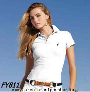 e7ed0ded0db7 Acheter polo ralph lauren femme blanc pas cher
