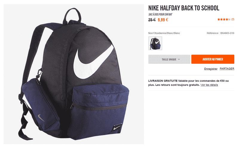e2d6888a7c4ed Sac à dos Nike CLASSIC LINE BP Ce sac à dos dispose d u0027un compartiment  principal et secondaire avec une fermeture à double zip pour un rangement  ...